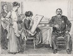 Charles Dana Gibson - The Reason Dinner Was Late - by 1912 - New Woman - Wikipedia, the free encyclopedia