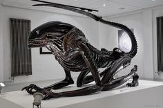 H.R. Giger's Alien sculpture.