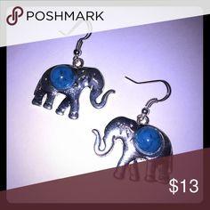 BOHO EARRINGS   Silver/Blue-Green Gorgeous BOHO earrings. Jewelry Earrings