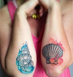 shell  tattoo - 40 Shell Tattoos Make You Wonder Sea Life | Art and Design