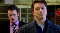 Still of John Barrowman and Gareth David-Lloyd in Torchwood (2006)