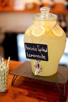 Lemonade Wedding Cocktail Also dress up your lemonade idea