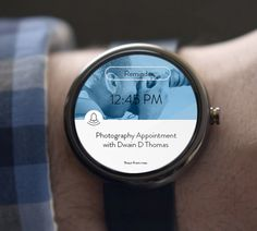 Android Wear UI Designs Reminder App