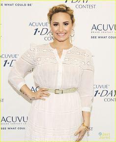 Demi Lovato wears a crochet-embellished dress for an event in Hollywood (July Celebrity Gossip, Celebrity Style, St Just, Barcelona Fashion, Embellished Dress, Celebs, Celebrities, Street Style Looks, Demi Lovato