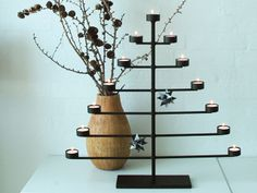 Pure Culture - Cone tea light candle holder. Very elegant for Christmas.