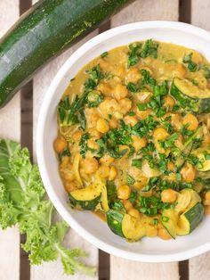 Veggie Recipes, Healthy Recipes, Bento, Vegan Gluten Free, Zucchini, Curry, Good Food, Tasty, Meals