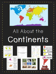 Need a fun way to introduce the continents? This 56 page bundle will engage your students in a variety of ways. From books to singing to jumping from continent to continent, they will have lots of fun while learning!!   Included in this pack:  Word Wall Words  Informational Book (color)  Emergent Reader (b/w)  Continent Song  Ocean Song  3 Part Cards  Memory Cards  Roll/Spin Graphing Activity  Sort Animals By Continent  Find A Continent (Movement Activity)  Puzzles