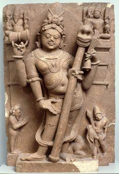 Stele Showing Shiva Bhairava North Central India, perhaps Rajasthan ca. 11th-12th century Sandstone - http://maa.missouri.edu/objects/asian/86-21IndiaSteleShiva.html