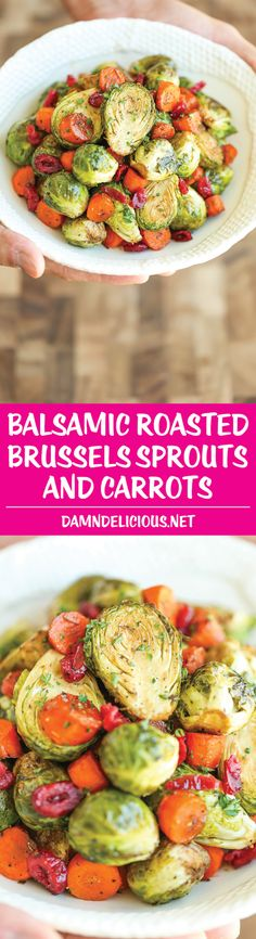 Balsamic Roasted Brussels Sprouts and Carrots - Damn Delicious