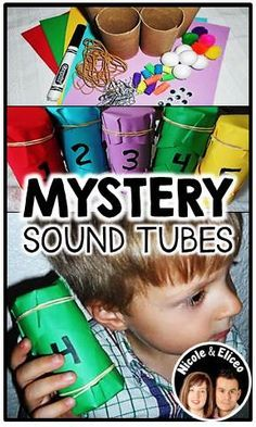 This pin includes an activity to make mystery sound tubes to explore the sense of hearing. Body & Five Senses Pack (example mystery sound tubes) Five Senses Preschool, 5 Senses Activities, My Five Senses, Kindergarten Science, Preschool Lessons, Preschool Classroom, Preschool Learning, Sensory Activities, Classroom Activities