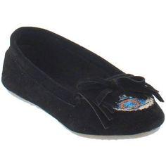 Shoes of Soul Toddler Girls' Embroidered Slip-on Shoe, Toddler Girl's, Size: 5, Black