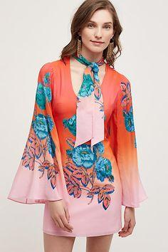 Gazania Silk Dress - anthropologie.com