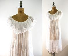 1970s gauze dress