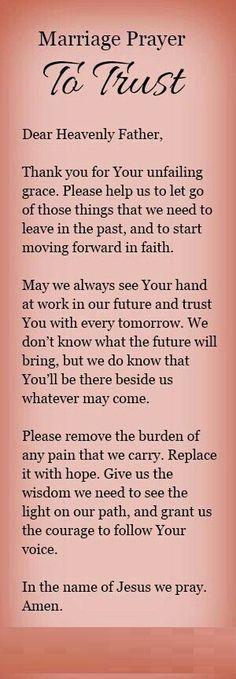 Marriage Prayer To Trust