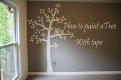How To Paint A Tree For The Nursery Room