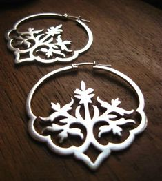 "Handmade Italian Silver Earrings ""Dreaming in Hindi"""