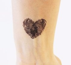 Other – Temporary Tattoo. Heart with Fingerprint – a unique product by u … - tatoo feminina Mini Tattoos, Trendy Tattoos, Unique Tattoos, Beautiful Tattoos, New Tattoos, Body Art Tattoos, Small Tattoos, Tattoos For Guys, Tatoos