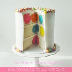 DIY Polka Dot Birthday Cake
