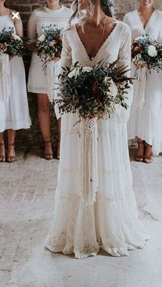 Boho Wedding Dress, Dream Wedding Dresses, Bohemian Bridesmaid, Gown Wedding, Perfect Wedding, Fall Wedding, Elegant Wedding, Wedding Goals, Getting Married
