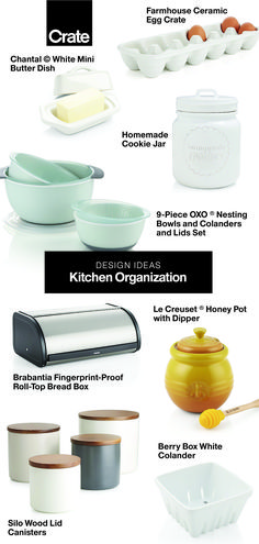From stylish canisters and vessels to pitchers and spice racks, we have everything you need to keep your food stylishly stored and organized. Kitchen Cupboard Designs, Farmhouse Kitchen Cabinets, Painting Kitchen Cabinets, Kitchen Paint, Kitchen Cupboards, Interior Design Kitchen, Island Kitchen, Egg Crates, Kitchen Organization Pantry