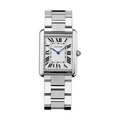 a00cb2501 Cartier Tank Solo watch, Large model, steel. Dámske HodinkyLuxusné ...