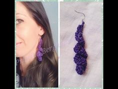 Passo à passo Brincos de croche espiral / Crochet earrings - YouTube