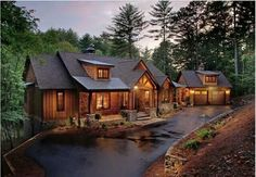 rustic luxury mountain house plans rustic mountain home Mountain House Plans, Mountain Homes, Mountain Cabins, Mountain Cottage, Chalet Modern, Design Home Plans, Casas Country, Log Cabin Homes, Log Cabins