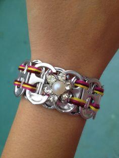 Pearl Pop Tab Bracelet via Etsy