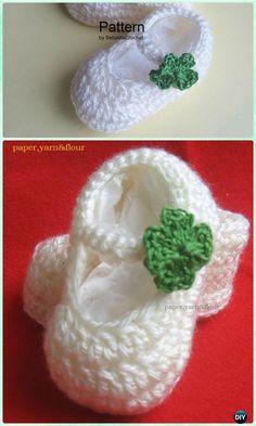 Crochet St Patrick Lucky Shamrock Baby Booties Free Pattern Video - Crochet Baby Booties Slippers Free Pattern