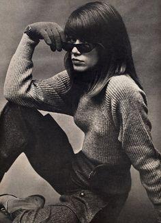 Francoise Hardy by Richard Avedon, Vogue 1963