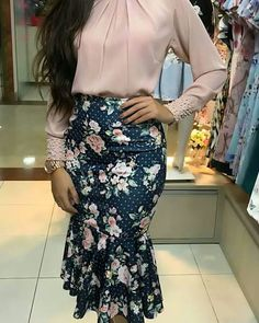 Cute Work Outfits, Classy Outfits, Short Lace Wedding Dress, Meeting Outfit, Church Outfits, Blouse And Skirt, Work Fashion, Skirt Outfits, Indian Dresses