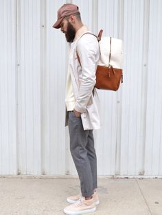 Acne studios cap Aimé Leon dore Backpack Filling Pieces x Ronnie Fieg sneakers . Neue Outfits, Style Outfits, Fashion Outfits, Fashion Trends, Fashion Fashion, High Fashion, Fashion Menswear, Fashion Updates, Fashion Sale