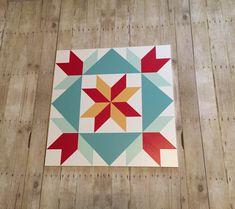 Barn Quilt - 1507 by Barefootpeddler on Etsy Barn Quilt Designs, Barn Quilt Patterns, Quilting Designs, Block Patterns, Square Patterns, Quilting Ideas, Quilting Projects, Sewing Projects, Painted Barn Quilts