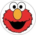 Elmo 25mm pin badge £1.00
