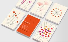 Beautiful abstract graphics of flowers make these the ideal Business Cards for creative florists, floral stylists, or landscape gardeners with a keen eye for design. Sharp lines and bold modernism colours make these cards a virtual show garden! Business Cards, Florals, Colours, Templates, Abstract, Amazing, Creative, Modern, Design