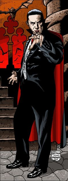 Universal Classic Monsters Art : Bela Lugosi as Dracula by Nathan Thomas Milliner Horror Monsters, Scary Monsters, Famous Monsters, Classic Horror Movies, Horror Films, Arte Horror, Horror Art, Rock And Roll, The Frankenstein