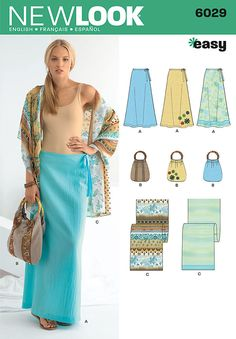 """new look easy sewing pattern. misses' skirt, hand bag and scarf with trim variations.<br/><br/><img src=""""skins/skin_1/images/icon-printer.gif"""" alt=""""printable pattern"""" /> <a href=""""#"""" onclick=""""toggle_visibility('foo');"""">printable pattern terms of sale</a><div id=""""foo"""" style=""""display:none;"""">digital patterns are tiled and labeled so you can print and assemble in the comfort of your home. plus, digital patterns incur no shipping costs! upon purchasing a digital pattern, you will receive an email…"""