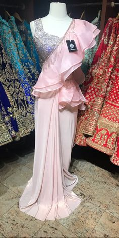 @raashik99 Nyc Dresses, Indian Dresses, Indian Outfits, Fancy Sarees Party Wear, Fancy Gowns, Lace Saree, Satin Saree, Designer Lehnga Choli, Sari Design
