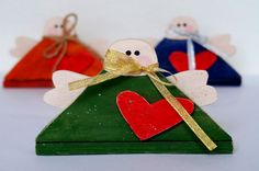 Christmas angel ornaments Christmas gifts Christmas decoration Wood angel Primitive Christmas ornaments