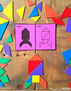 Kids will have fun learning and building with shapes while trying out the geometry ideas and resources. a free pattern block symmetry activity included! Shapes For Kids, Math For Kids, 3d Shapes, Symmetry Activities, Fun Math Activities, Composite Shapes, Teacher Freebies, 3d Figures, E Mc2