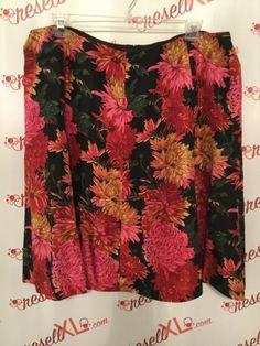 fddf9759871 Talbots Size 22W Multi Color Floral Print Skirt