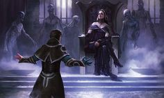 Jace greets Liliana on Innistrad High Fantasy, Fantasy Rpg, Medieval Fantasy, Fantasy Artwork, Fantasy World, Character Concept, Character Art, Concept Art, Character Design