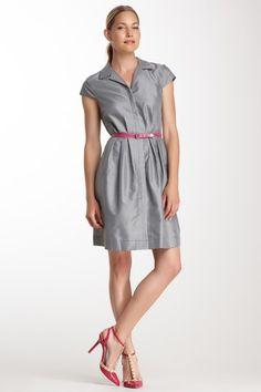 Short Sleeve Gingham Shirt Dress by Suzi Chin on @HauteLook