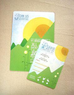 Sunny Hills Wedding Invitation Suite