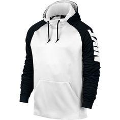 57eb2fda53 Nike Therma Men s Training Hoodie -White Black White -Nike sale Nike Mens  Clothing