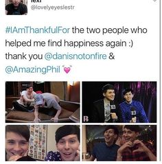 Dan and Phil are my everything they made me happy in 2016!