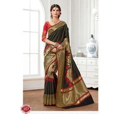 raw silk designer saree from muhenera
