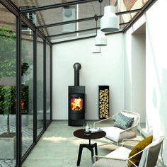 Kaminofen Luno Kaminofen Luno toll hier im Wintergarten! The post Kaminofen Luno appeared first on Wohnzimmer ideen. Garden Room Extensions, House Extensions, Kitchen Extensions, House Extension Design, Glass Room, Living Room Decor Cozy, Glass House, Living Room Designs, New Homes