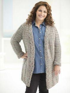 Curvy Girl Cable Crochet Cardigan - looks comfortable!