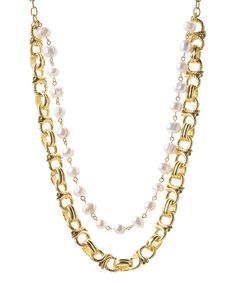 Karine Sultan Gold & Pearl Layered Necklace   zulily